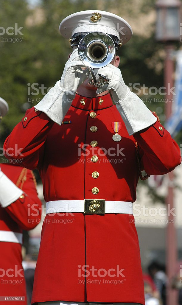 Blow that horn royalty-free stock photo