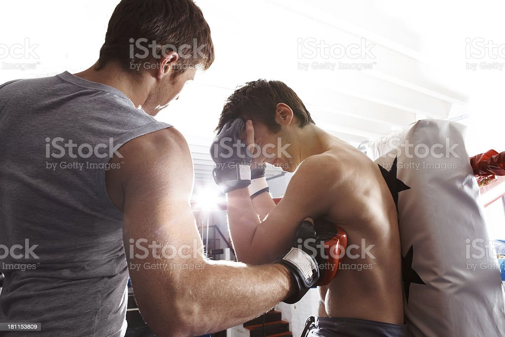 Blow to the body royalty-free stock photo