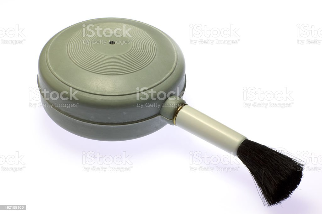 Blower brush for cleaning. stock photo