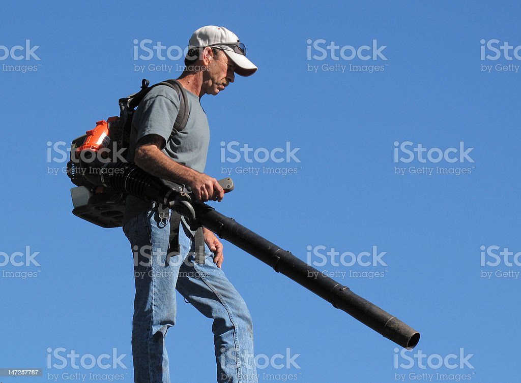 Blower Man stock photo