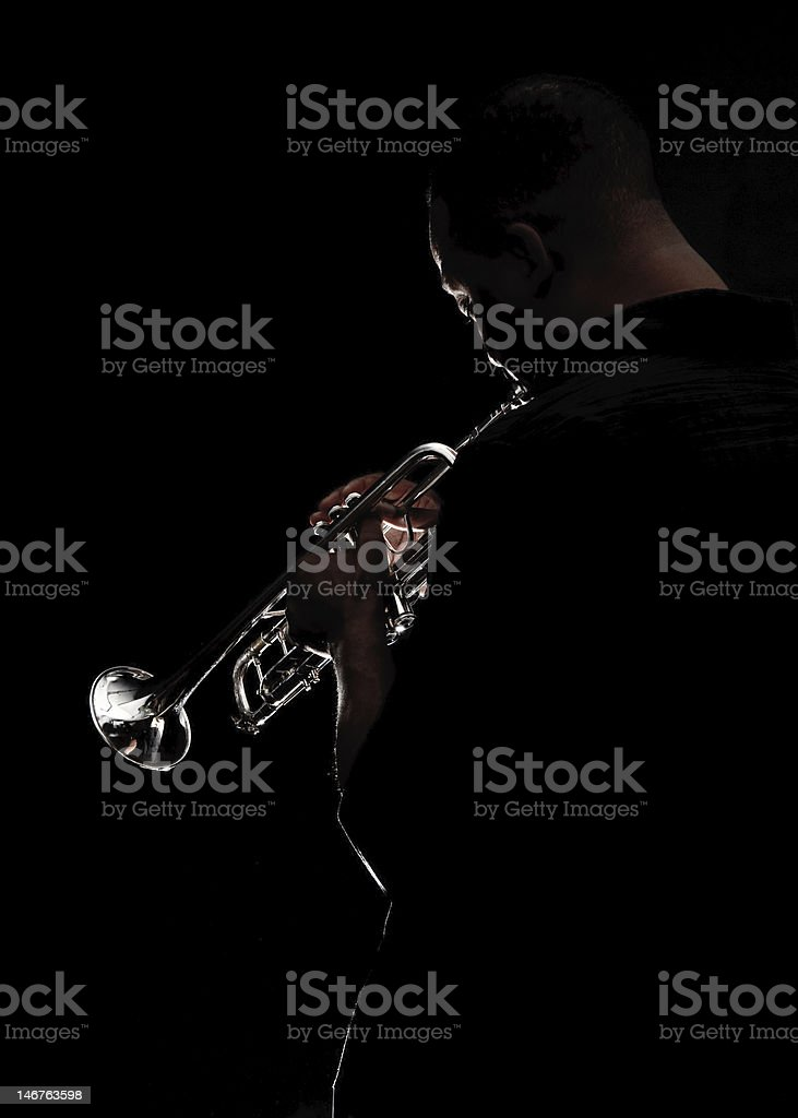 Blowin some Jazz stock photo