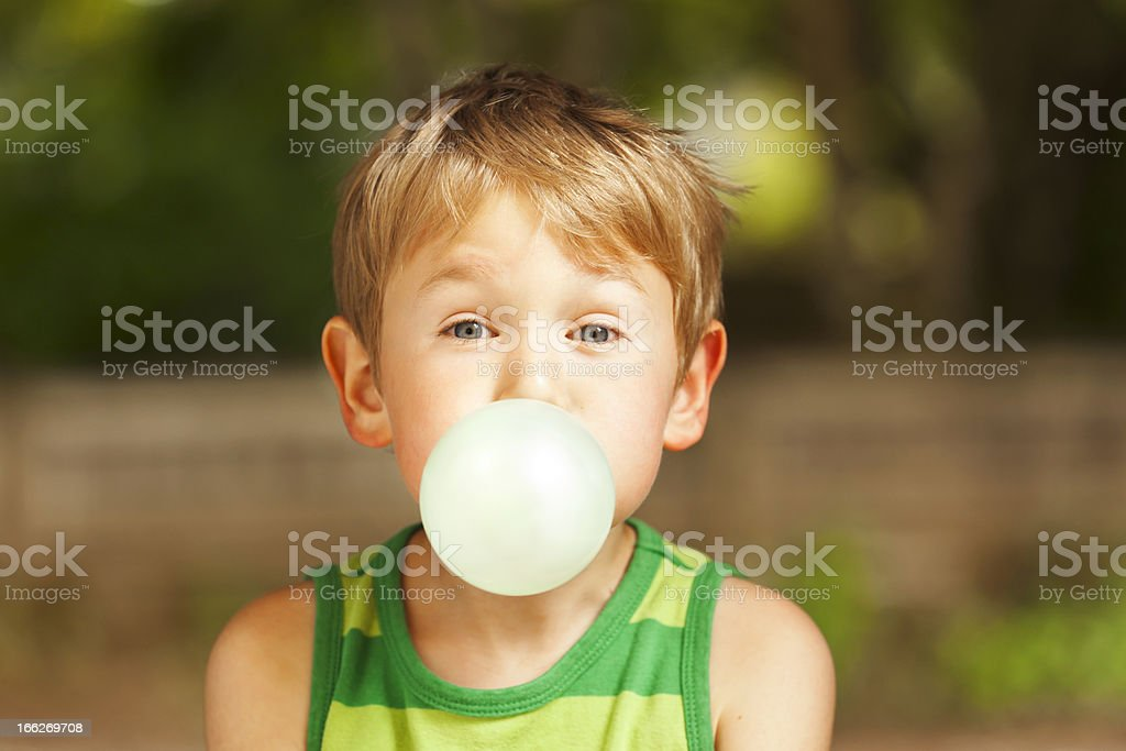 Blowing Bubble stock photo