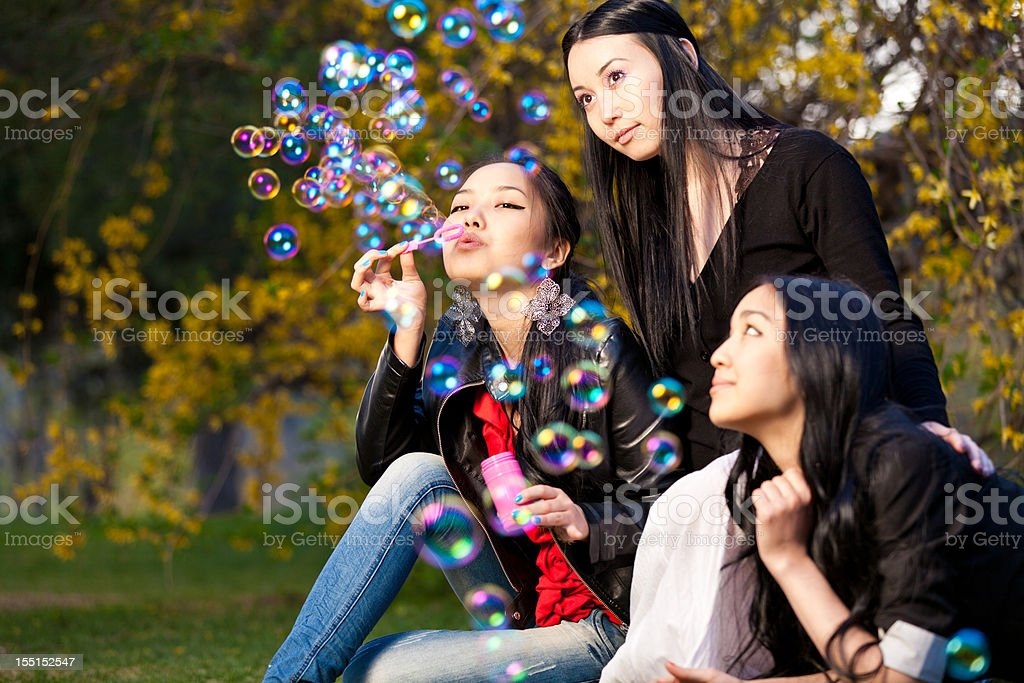 Blowing Bubbles royalty-free stock photo