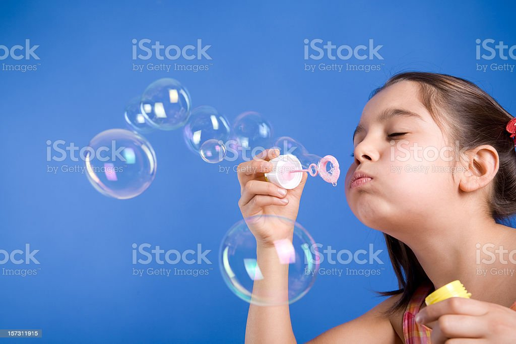 Blowing bubbles. royalty-free stock photo