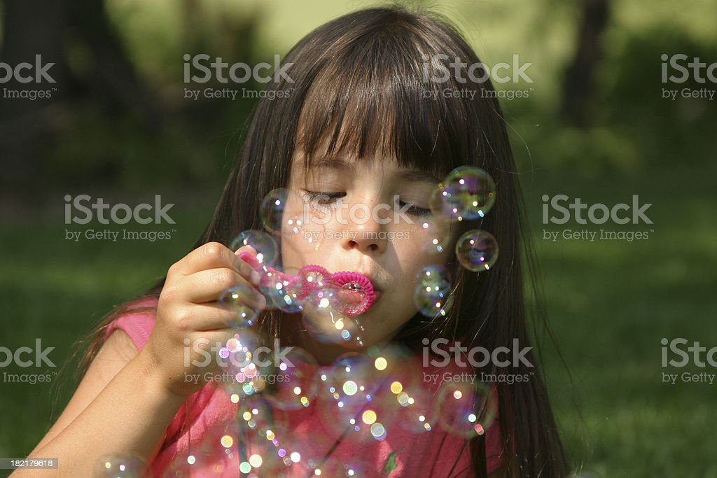 Blowing Bubbles Series (multiple images) royalty-free stock photo