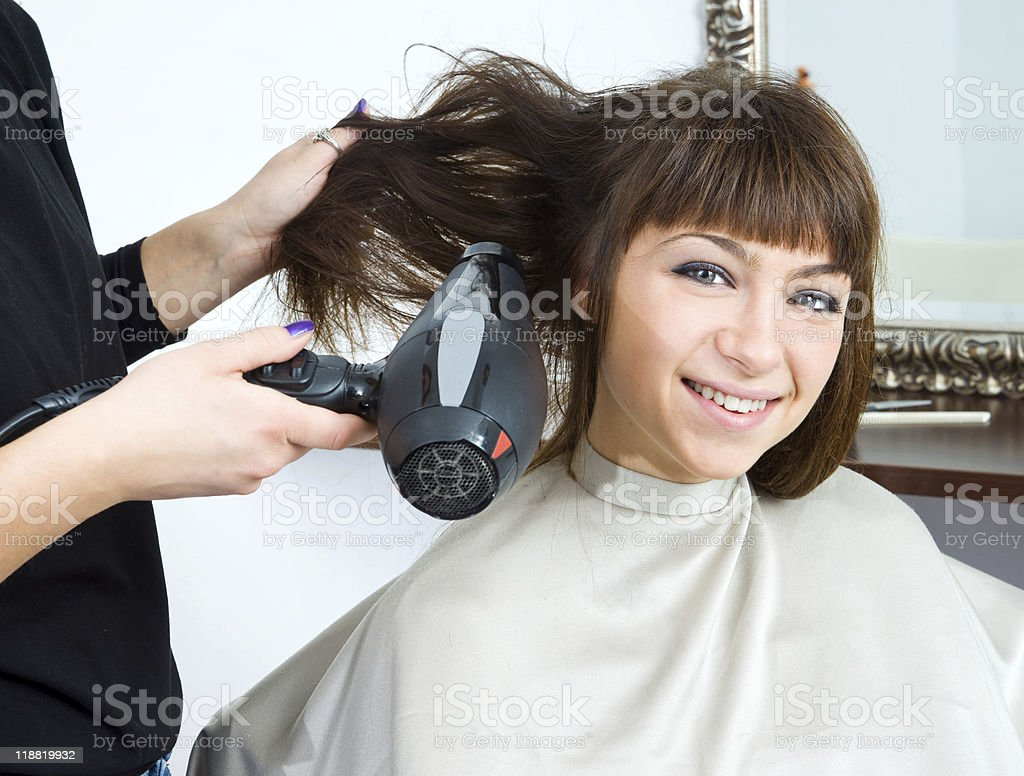 blowing hair royalty-free stock photo