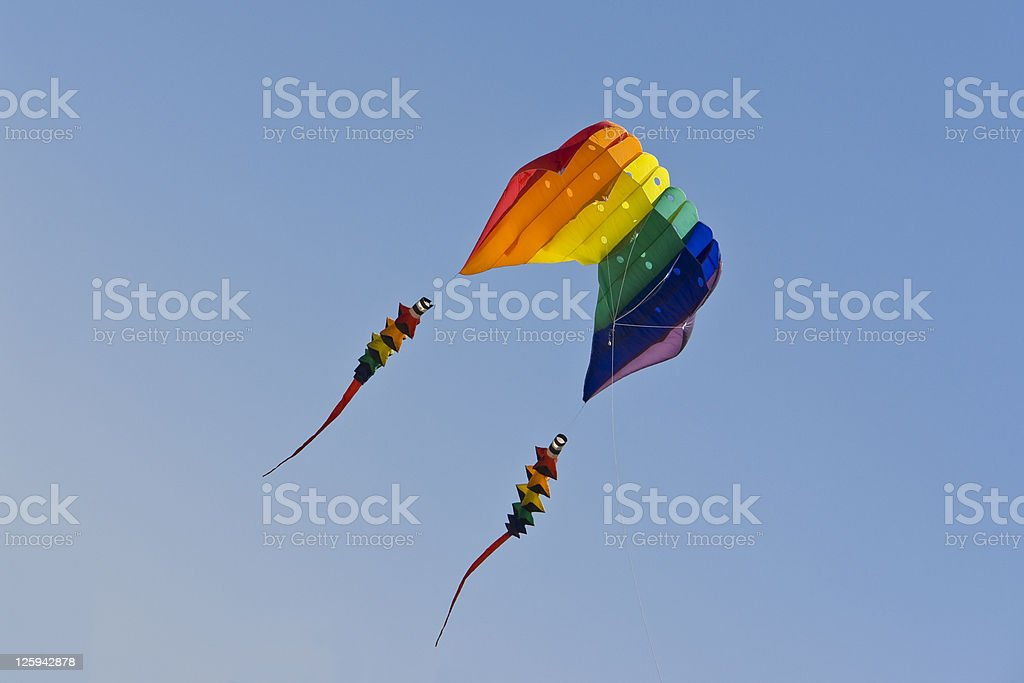 Blowing in the wind stock photo