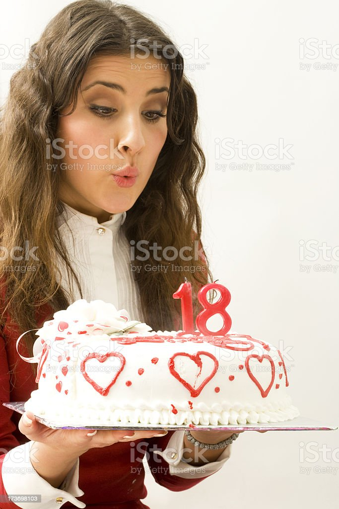Blowing out candles royalty-free stock photo