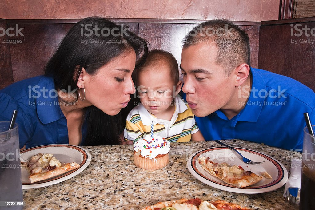 Blowing out the Candles royalty-free stock photo