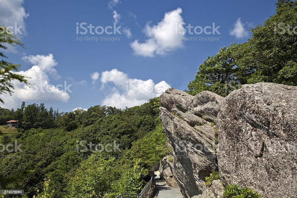 Blowing Rock royalty-free stock photo