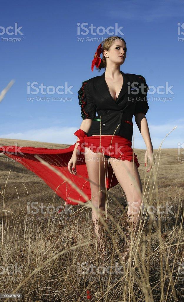 Blowing Skirt stock photo