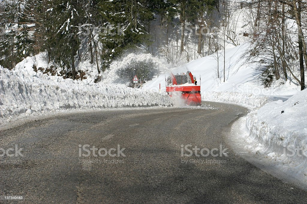 Blowing snow royalty-free stock photo