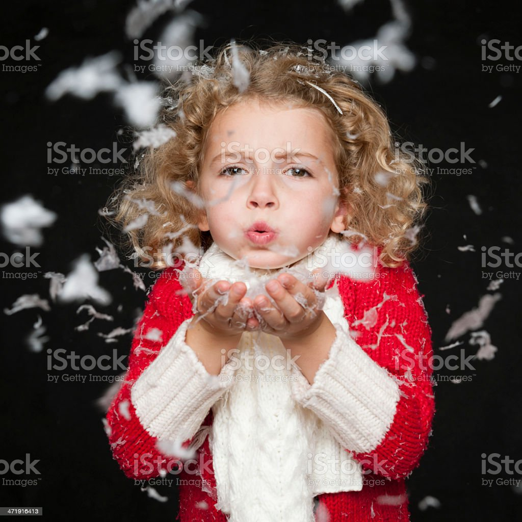 Blowing Snowflakes royalty-free stock photo