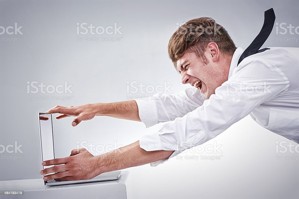 Blown away by the work load! stock photo
