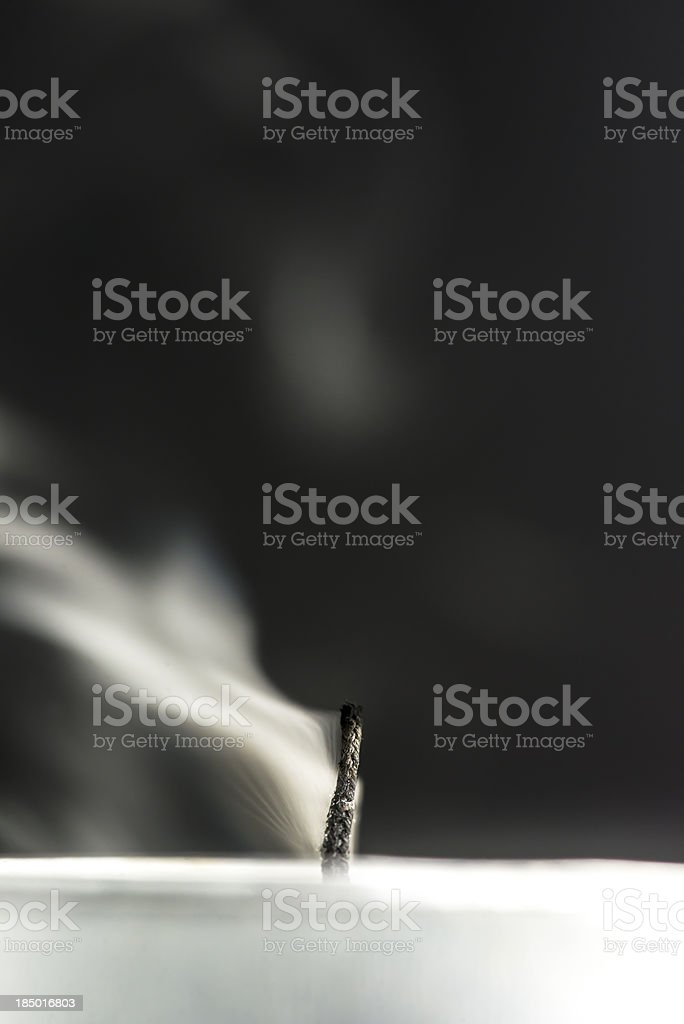Blown candle stock photo