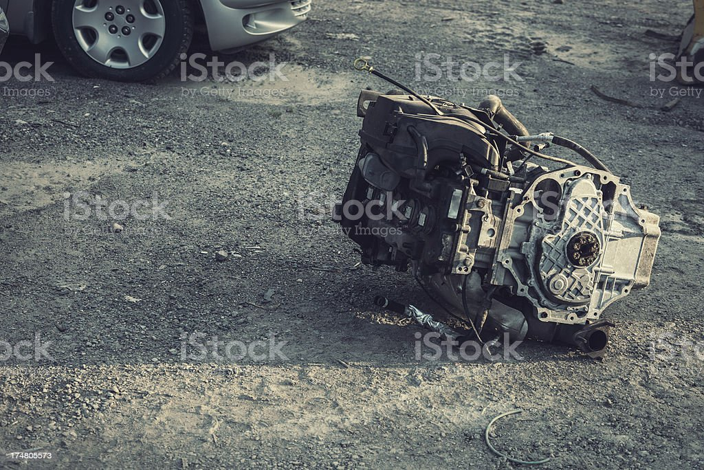 Blown Engine royalty-free stock photo