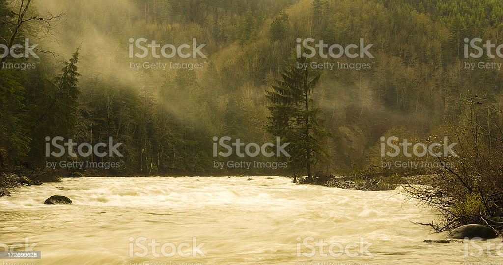 Blown out river stock photo