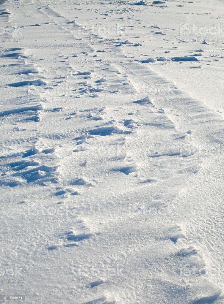 Blown Snow, Lake Simcoe, Ontario, Canada stock photo