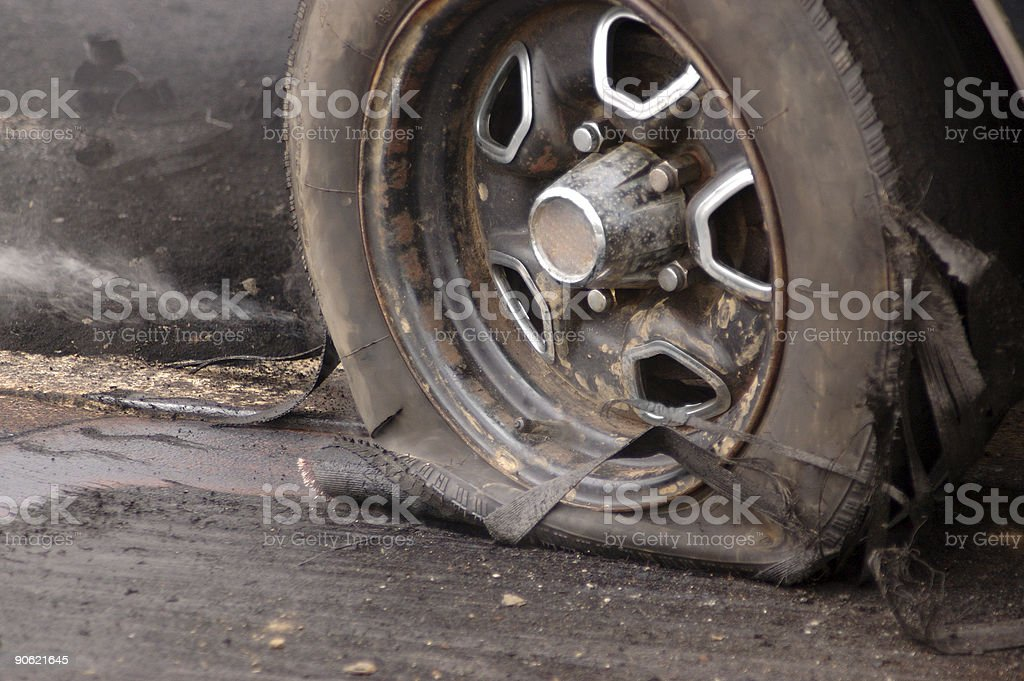 Blown Tire royalty-free stock photo