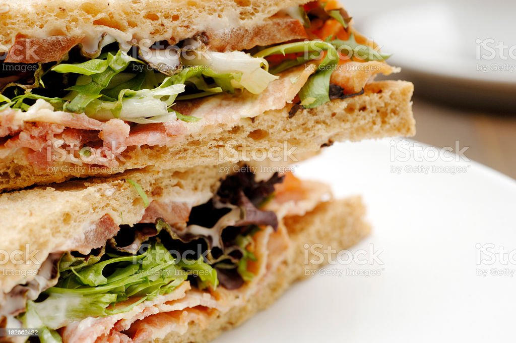 blt sandwich on plate royalty-free stock photo