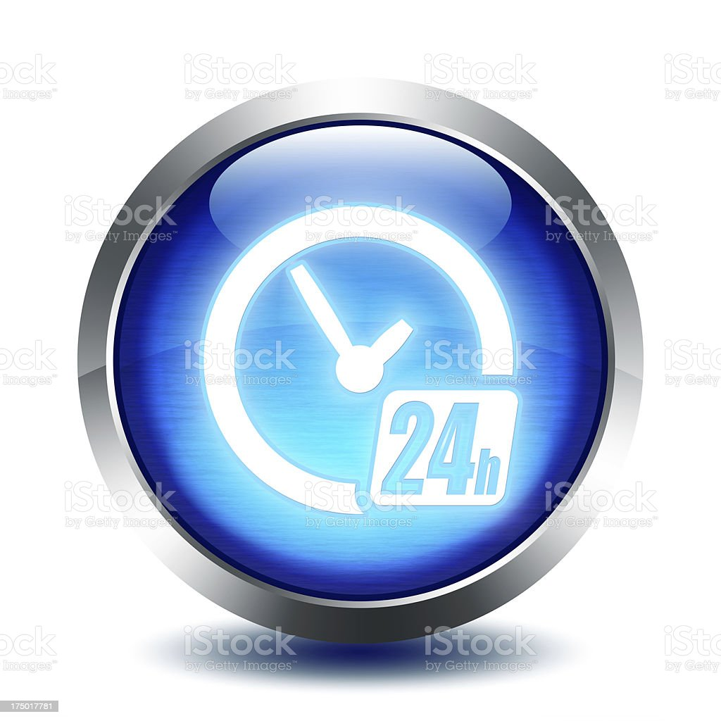 blu glass button - delivery , shipping to 24 hours stock photo