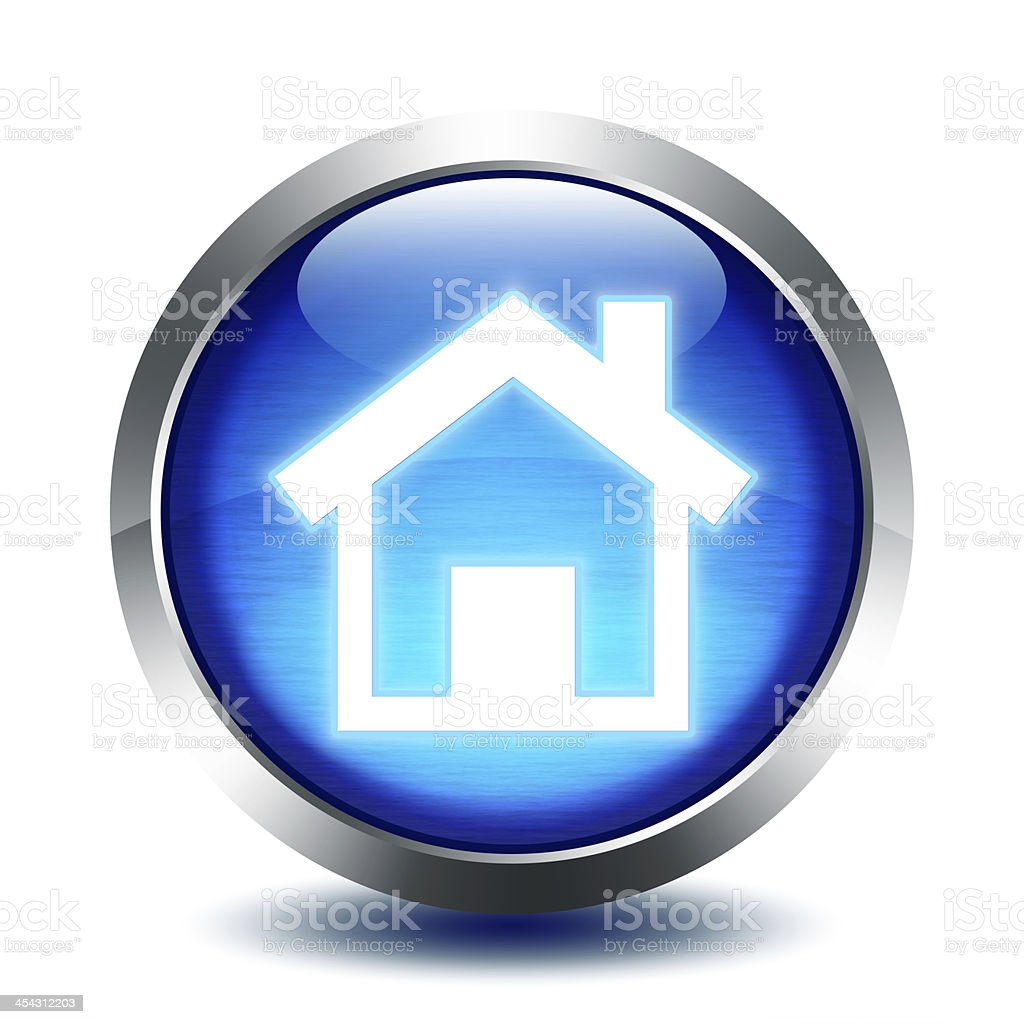 blu glass button - homepage stock photo