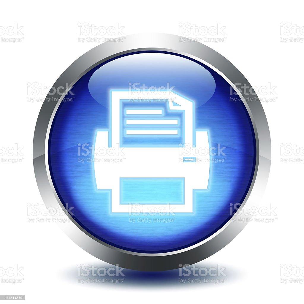 blu glass button - print stock photo