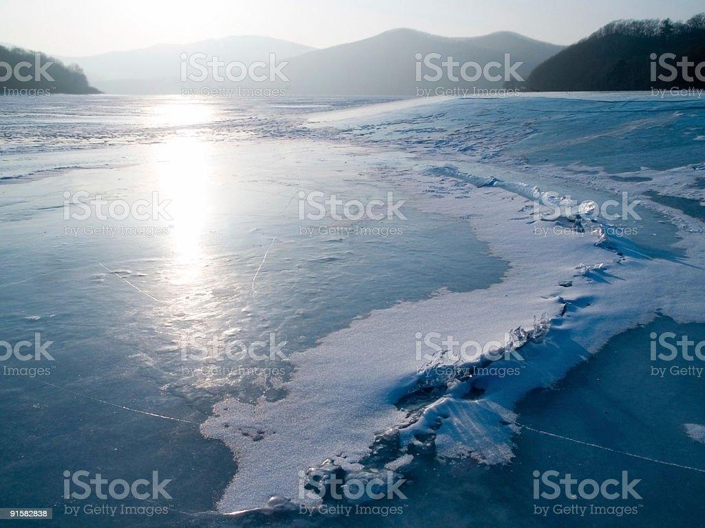 blu ice lake stock photo
