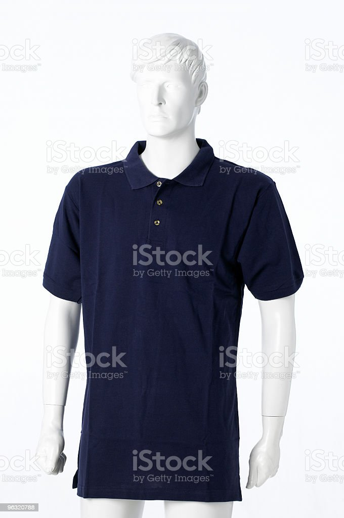 Blu polo shirt royalty-free stock photo