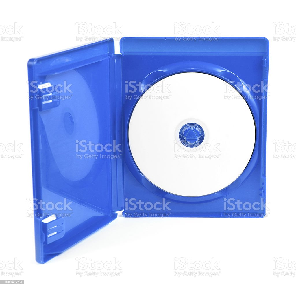 Blu Ray Disk in Plastic Jewel Case royalty-free stock photo