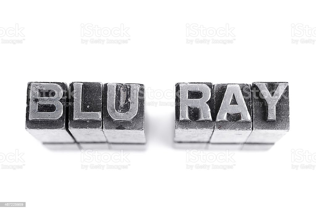 Blu Ray Sign royalty-free stock photo