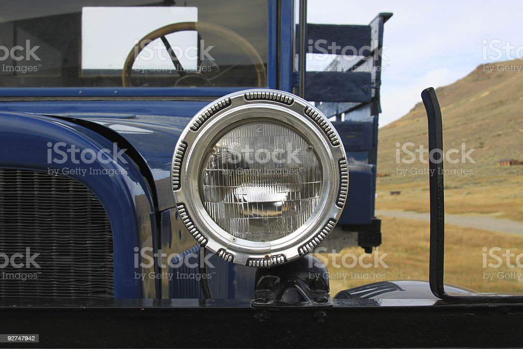 Blue 1927 Dodge Stake Bed Truck stock photo