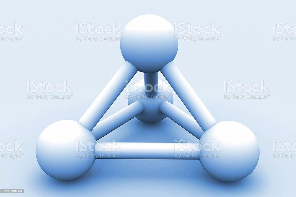 blue 3d molecule stock photo