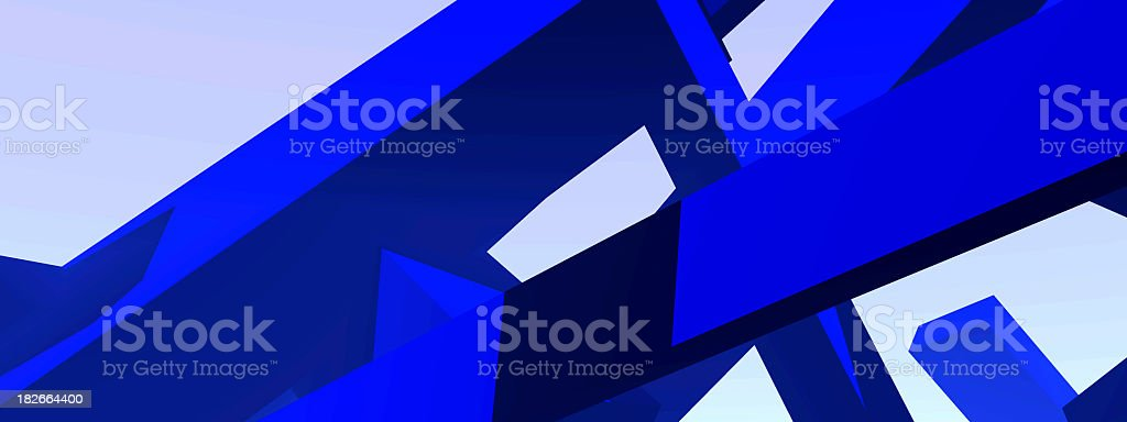 Blue 3D Shapes 2 royalty-free stock photo