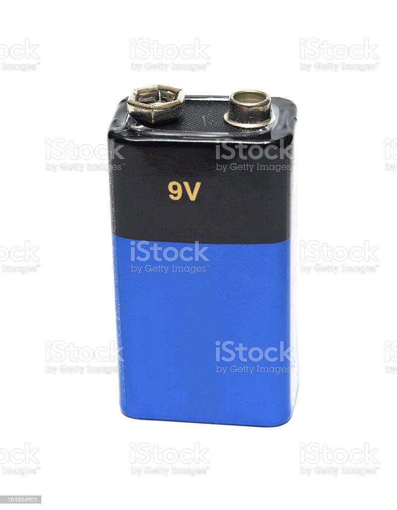 blue 9v battery stock photo