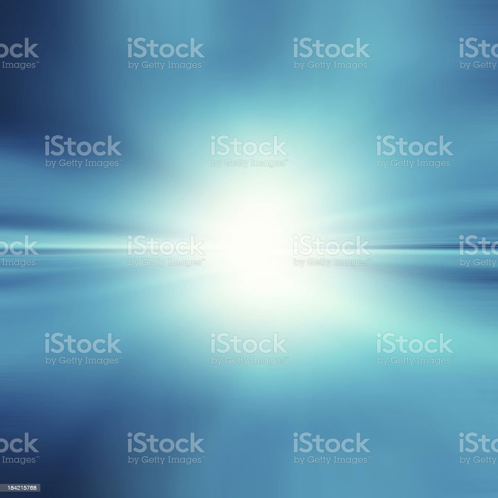 Blue abstract background with white spot light stock photo