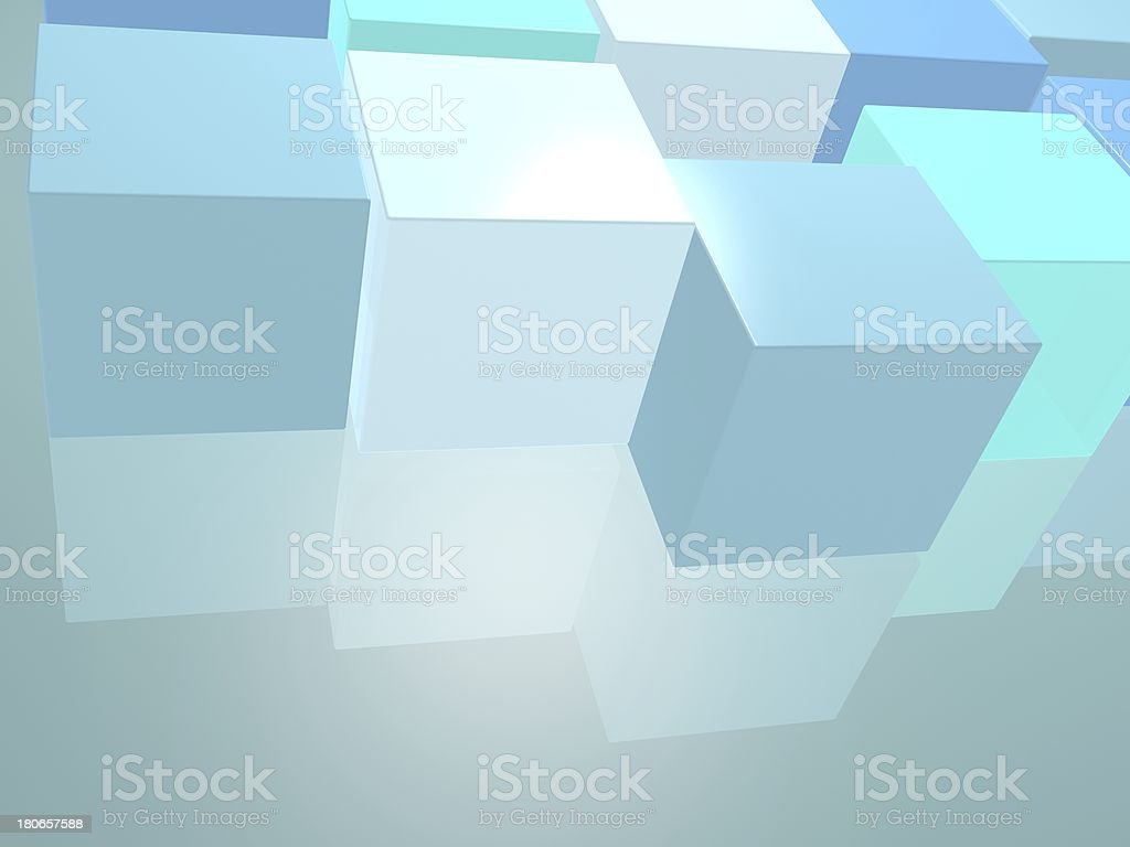 blue abstract cube background royalty-free stock photo