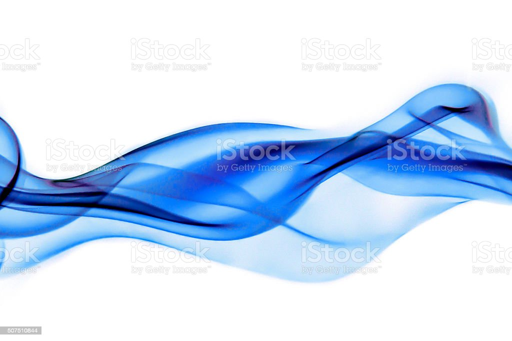 Blue abstract curve stock photo