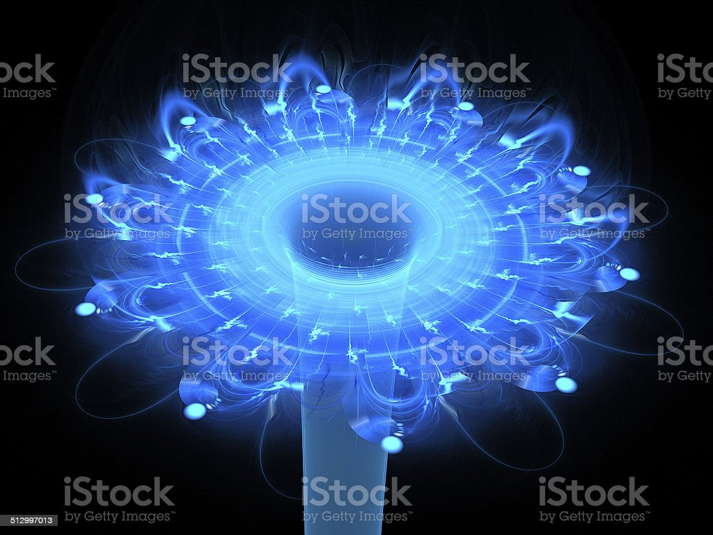 Blue abstract flower royalty-free stock photo