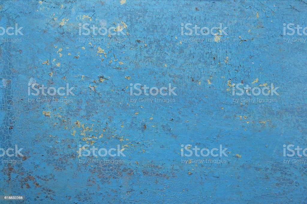 blue abstract grunge background, old metal background stock photo