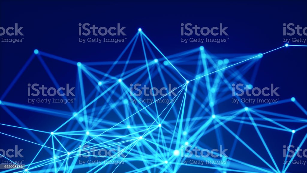 Blue Abstract Network Background stock photo