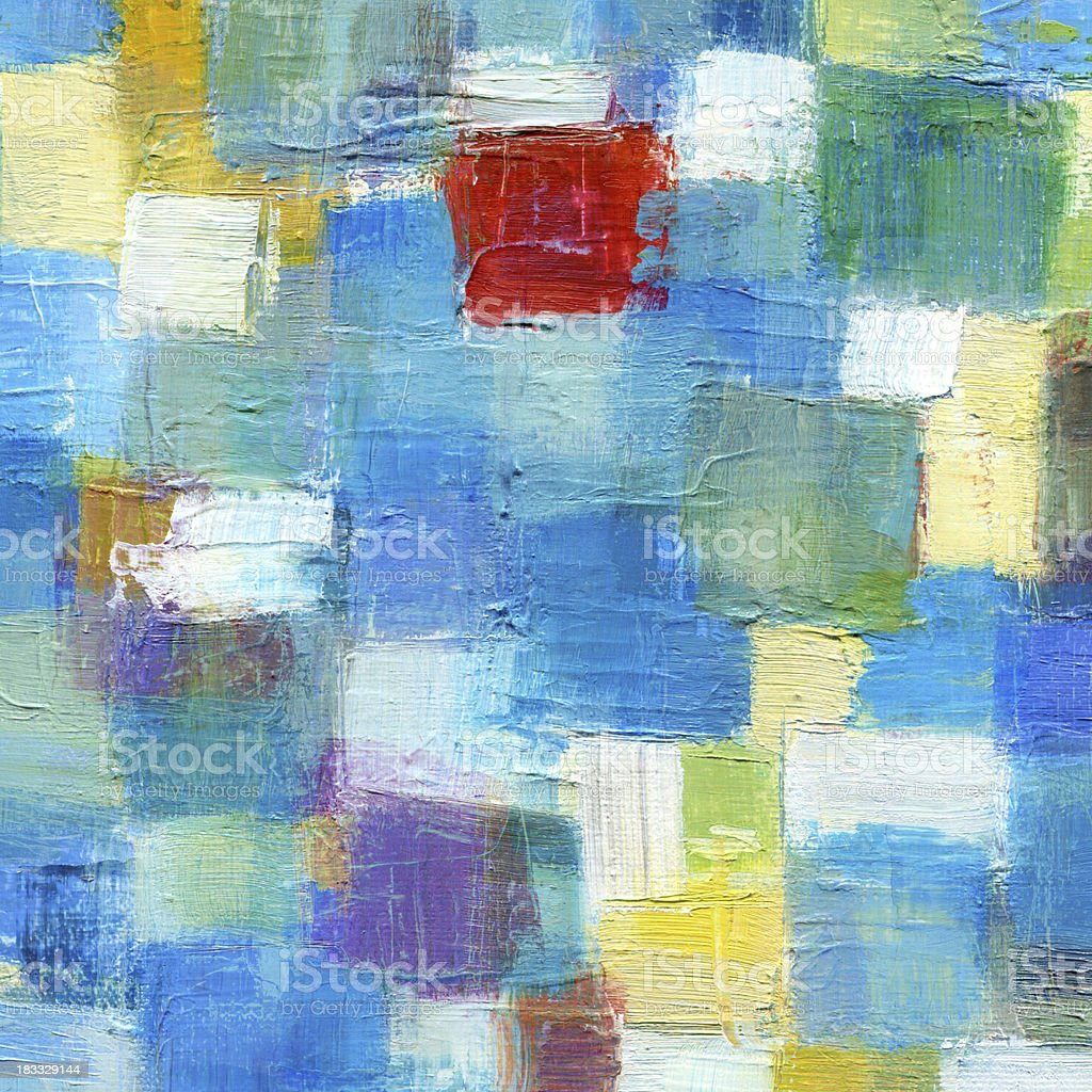 Blue Abstract Oil Painting royalty-free stock photo