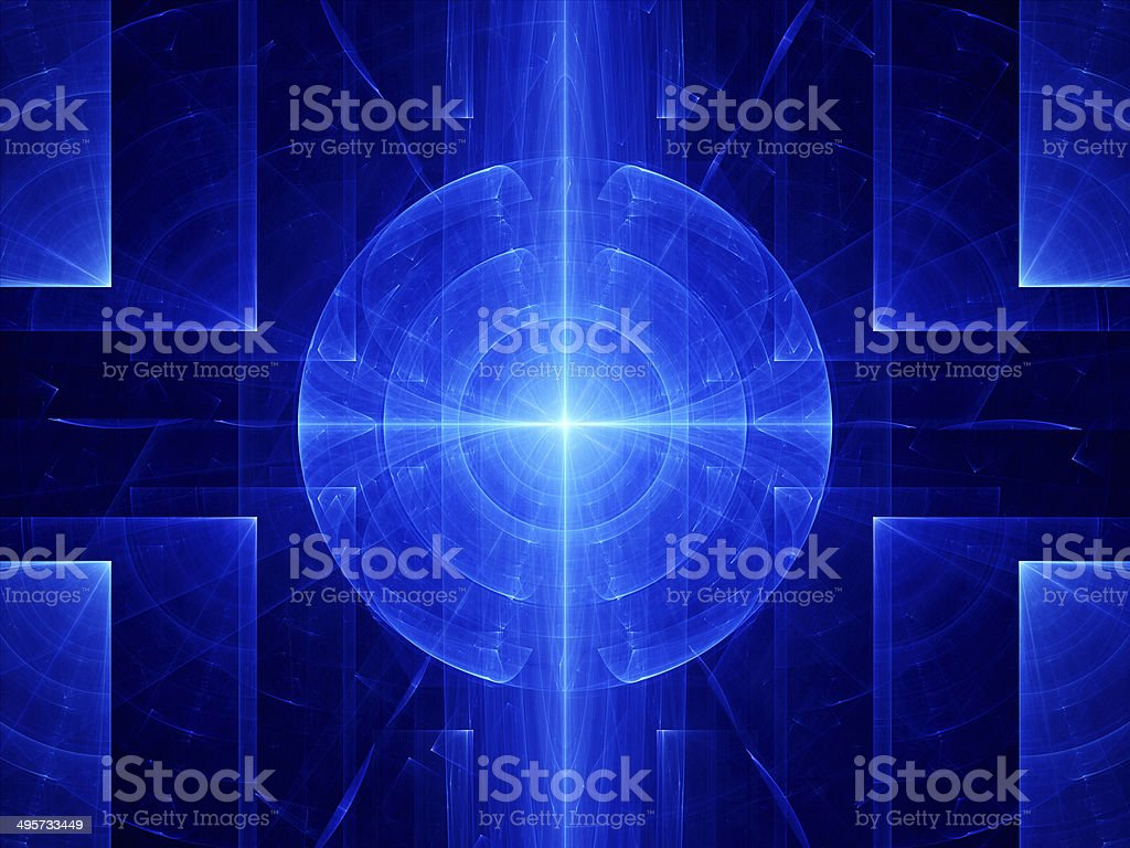 Blue abstract target royalty-free stock vector art