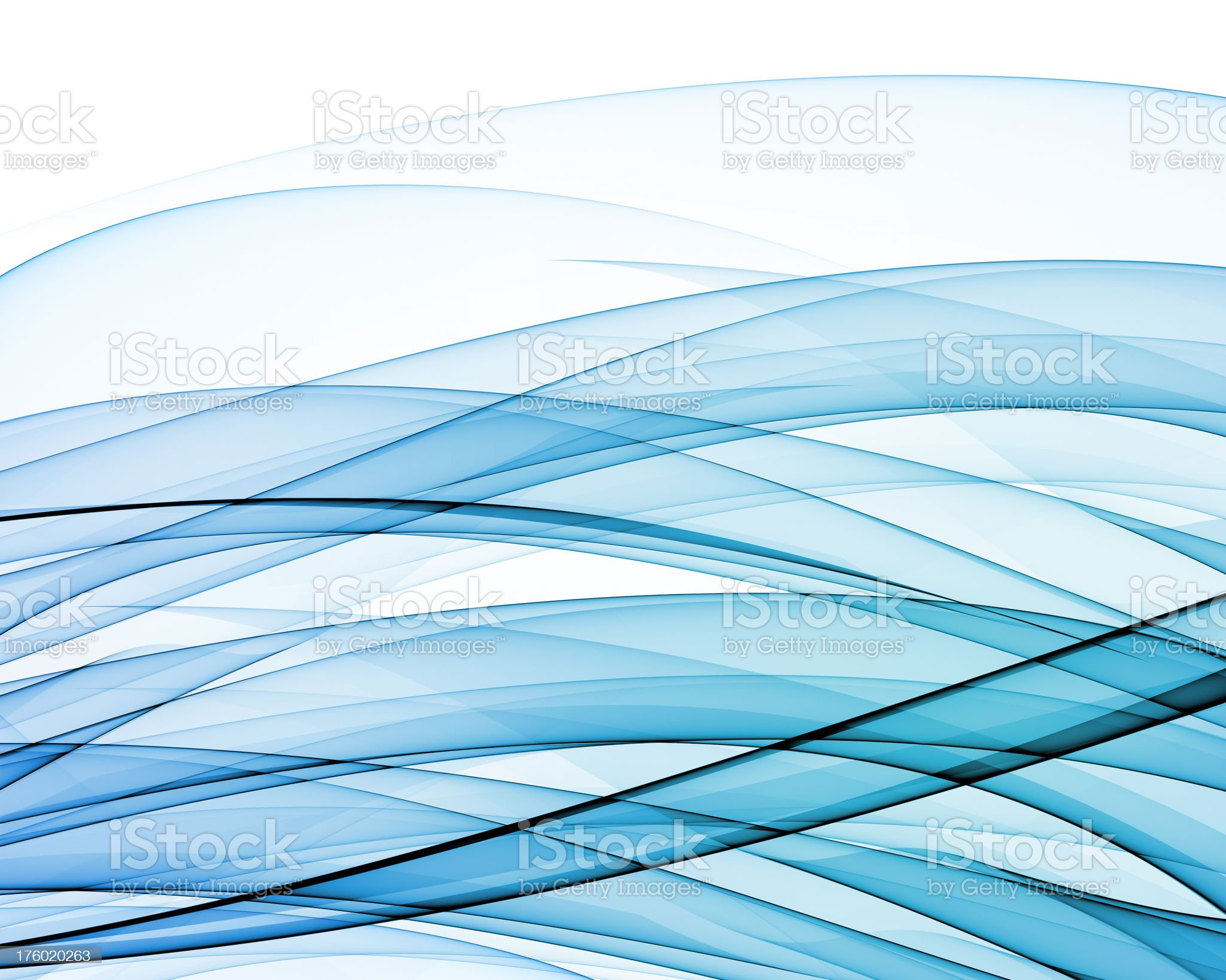 Blue abstract waves royalty-free stock photo