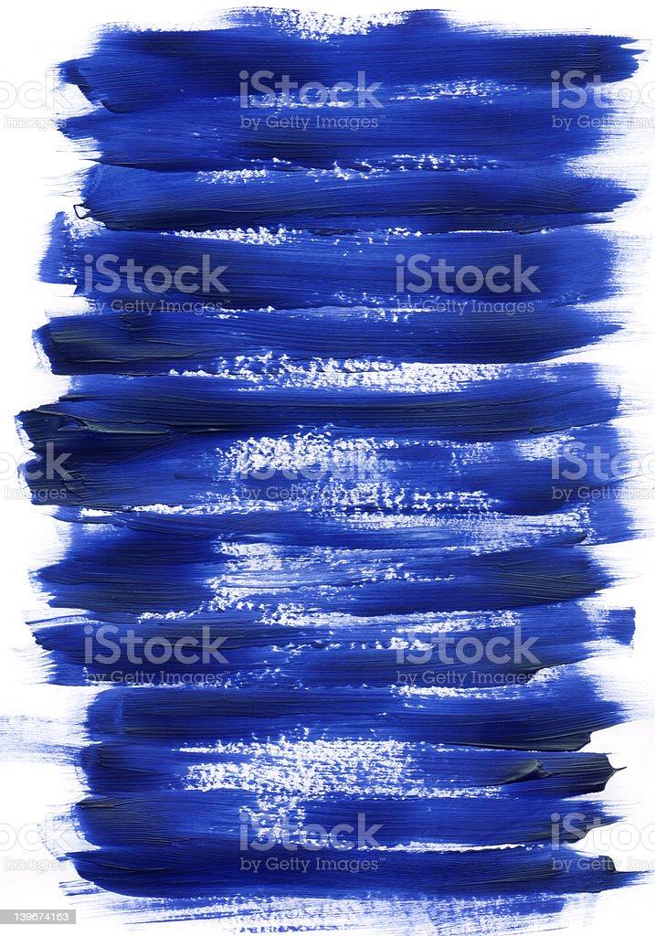 Blue Acrylic Paint Texture stock photo
