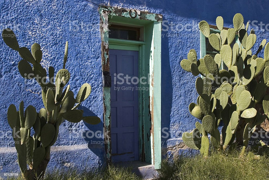 Blue Adobe royalty-free stock photo