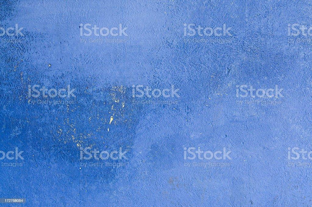 Blue Adobe Wall stock photo