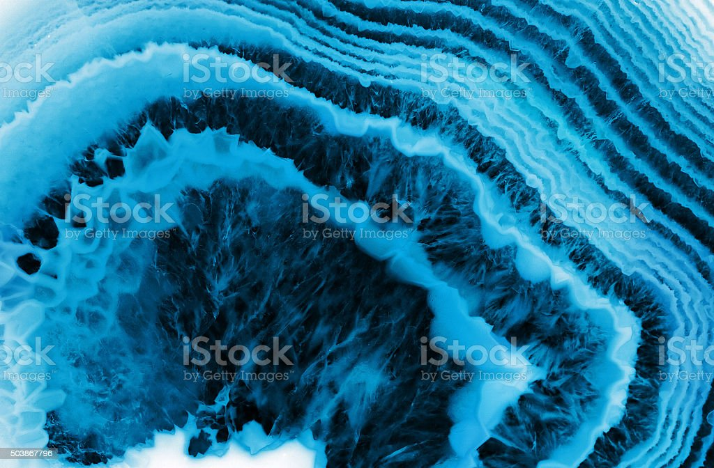 blue agate macro background stock photo