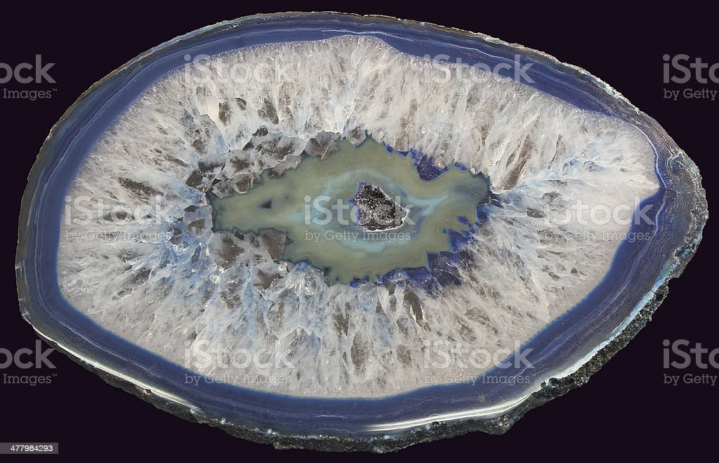 Blue Agate stock photo