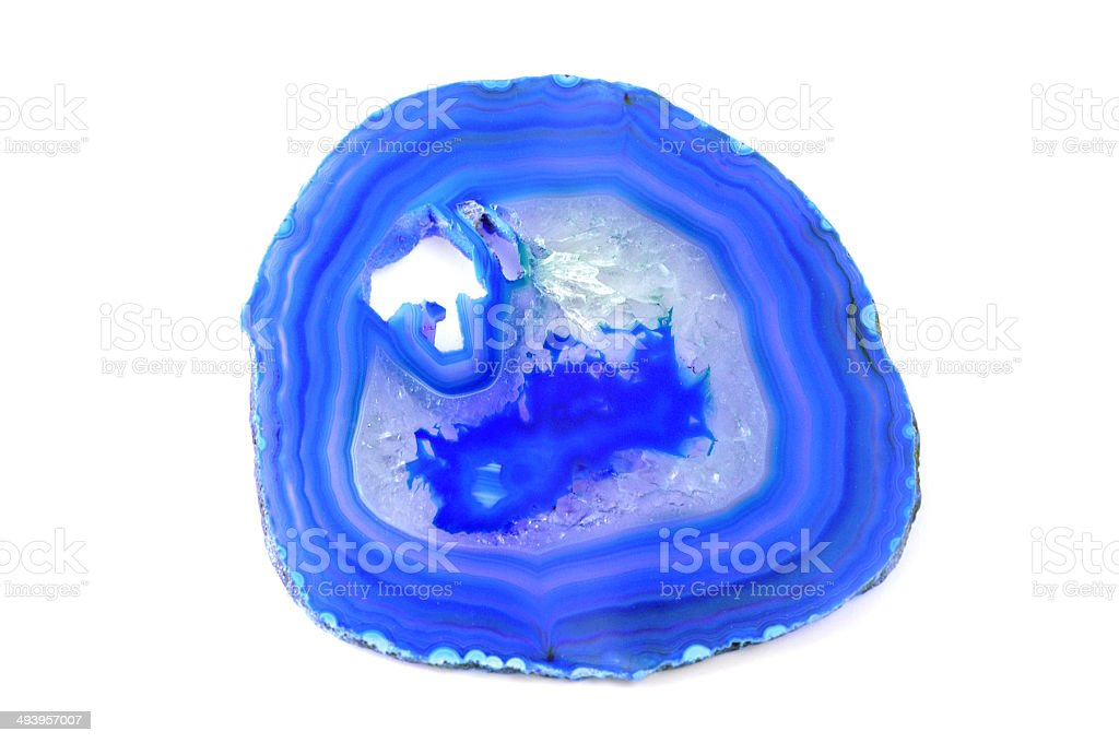 blue agate stock photo